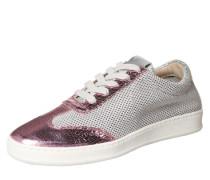 Sneaker im Metallic-Look pink