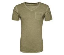T-Shirt mit V-Ausschnitt grün