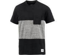 Nikko T-Shirt Herren graumeliert / schwarz