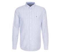 Gestreiftes Langarmhemd blau / weiß