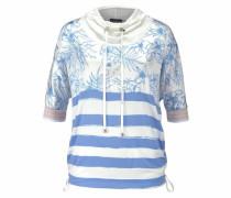Blusenshirt himmelblau / weiß
