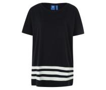 T-Shirt im Oversize-Cut nachtblau / weiß
