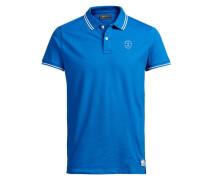 Klassisches Poloshirt blau