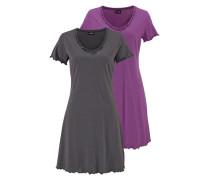 Nachthemden grau / lila