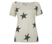 Strickshirt 'Cool star' beige / schwarz