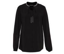 Tunika-Bluse mit Quasten schwarz