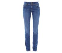 Shape Slim: Used-Stretchjeans blue denim