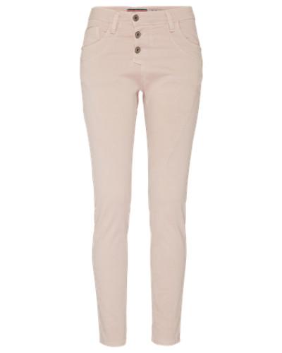 'Boyfriend' Hose in Jeans-Optik rosé