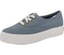 'Triple Season Chamb' Sneakers blue denim / weiß