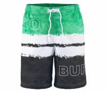 Badeshorts grün / schwarz