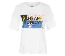 T-Shirt mit Logoprint weiß