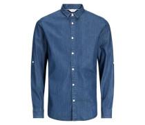 Langarmhemd blau