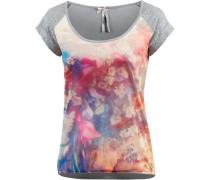 T-Shirt Damen graumeliert / mischfarben
