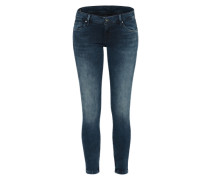 Schmale Jeans mit Ankle-Zipper 'Cher' blue denim