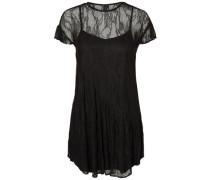 Spitzen-Kleid mit kurzen Ärmeln schwarz