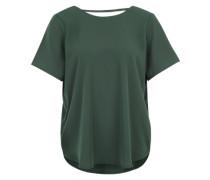 Oversized Shirt 'Las' mit Rücken-V-Neck grün