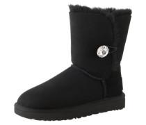 Boots mit funkelndem Swarovski-Knopf 'Bailey button bling' schwarz