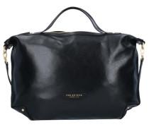 'Icons' Handtasche Leder 50 cm schwarz