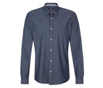 Hemd im Twill-Look blau