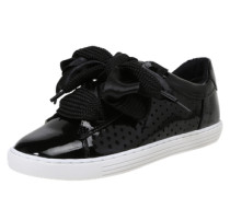 Sneaker in Lack-Optik schwarz