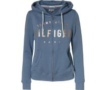 Sweatshirt 'thdw Basic Grphc ZIP Hoody L/S 13' blau