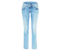 'Venus' Straight Leg Jeans blue denim