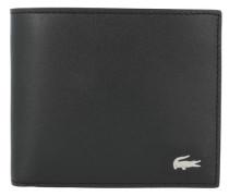 'fg' Geldbörse Leder 11.5 cm schwarz