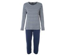 Capri-Pyjama blau / grau