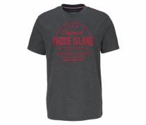 T-Shirt anthrazit / blutrot