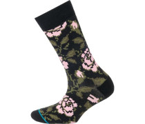 Socken oliv / rosa / schwarz