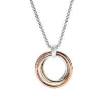 Halskette mit Anhänger gold / silber