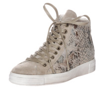 Sneaker in Reptil-Optik beige