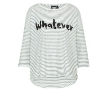 Shirt 'LS Whatever Stripe' schwarz / weiß
