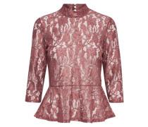 Bluse mit 3/4 Ärmeln Spitzen- pink