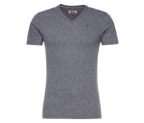 T-Shirt mit V-Ausschnitt graumeliert