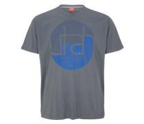 T-Shirt mit rundem Print blau / grau