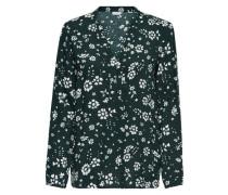 Lockeres Langarmhemd dunkelgrün