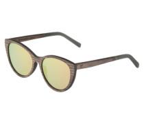 Sonnenbrille 'Martha' mit Gestell aus Holz braun