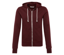 Sweatjacke 'Basic Sweat Jacket' bordeaux