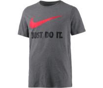 Printshirt 'New JDI Swoosh' dunkelgrau / rot
