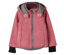 Melierte Outdoor-Strickjacke pink