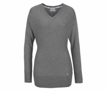 V-Ausschnitt-Pullover grau