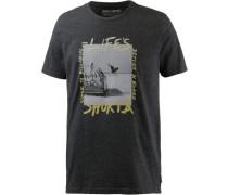 T-Shirt 'life's Short AIR SS' schwarz