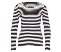 Shirt im Streifen-Design blau / weiß