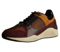 Sneaker goldgelb / burgunder