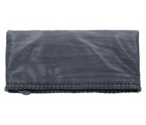 'Ronja Stit' Nappa Clutch Tasche 29 cm anthrazit / schwarz