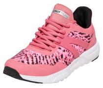 Kontrastreiche Sportschuhe pink