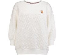 Sweatshirt 'LW Quilted Crew' weiß