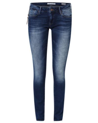Schmale Blue Jeans 'Serena' dunkelblau