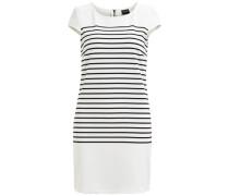 Gestreiftes Kleid weiß